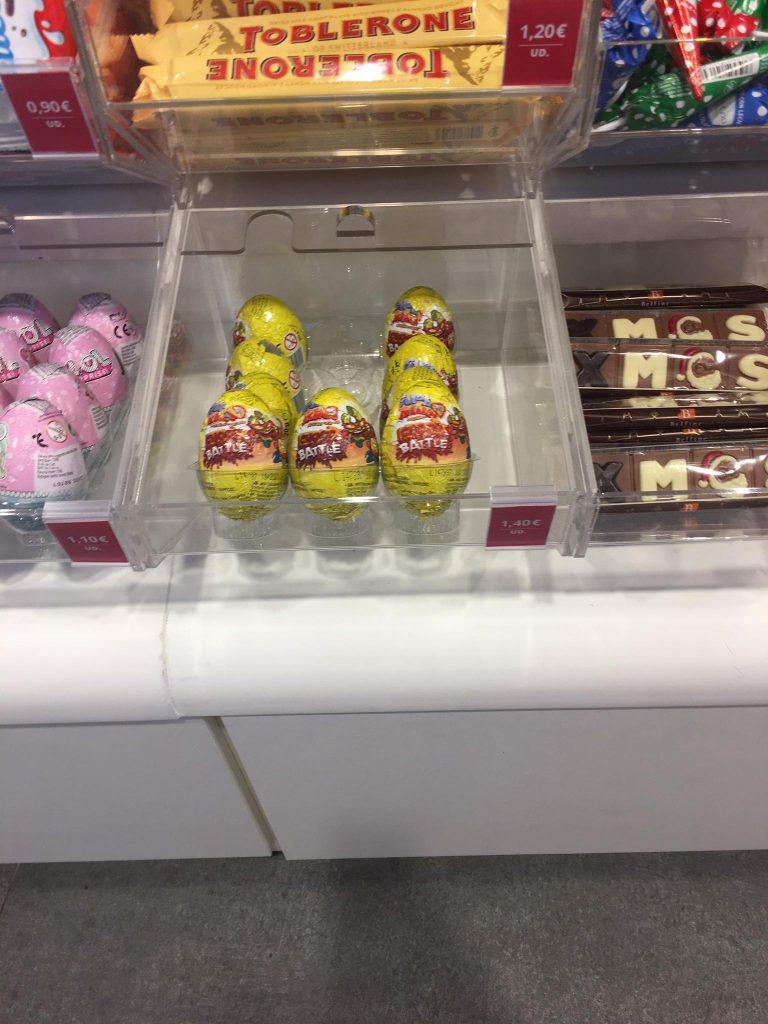 huevos de chocolates superzings tienda Belros