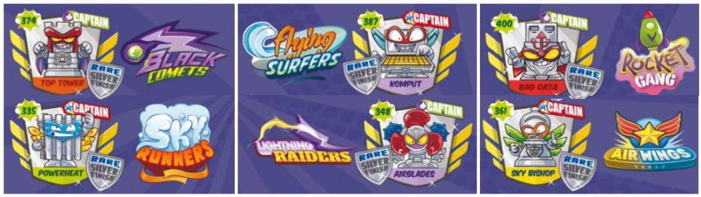 Escudos y capitanes de la serie 5 SuperZings