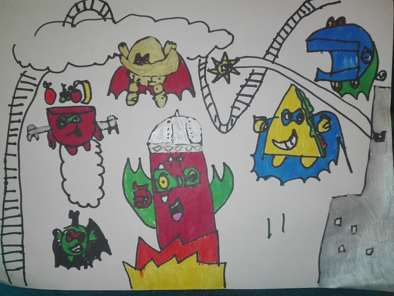 Dibujos de Ismael de la serie 5 de SuperZings