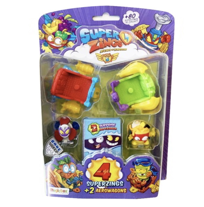 superzings blister serie 5 con 2 aerowagons