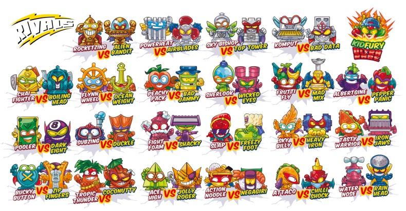 Coleccion completa SuperZings serie 5, todos los personajes de la serie cinco
