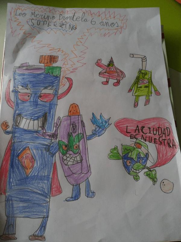 Dibujo Leo Merino de SuperThings