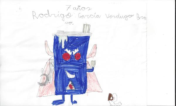 superthings dibujados por Rodrigo