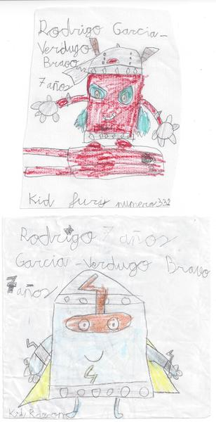 superthings dibujados por rodrigo de 7 años
