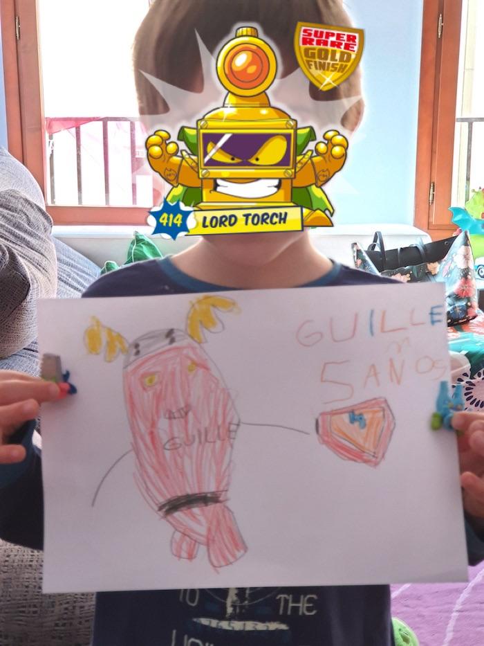 Dibujo SuperThings Guille