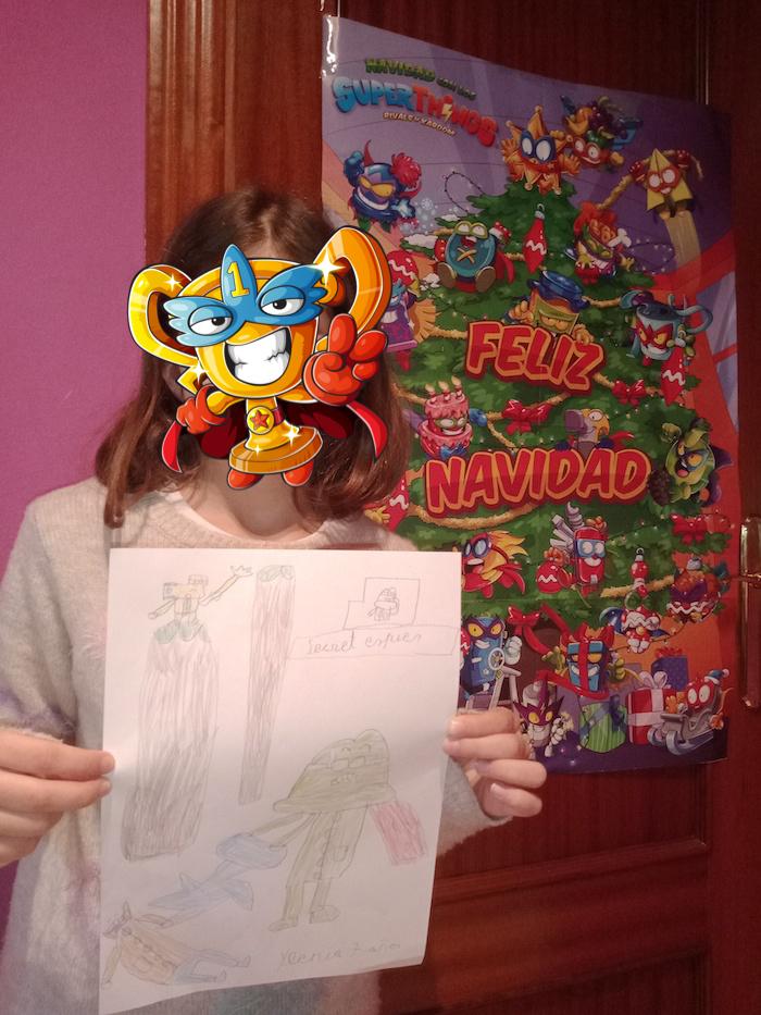 Dibujo SuperThings de Navidad