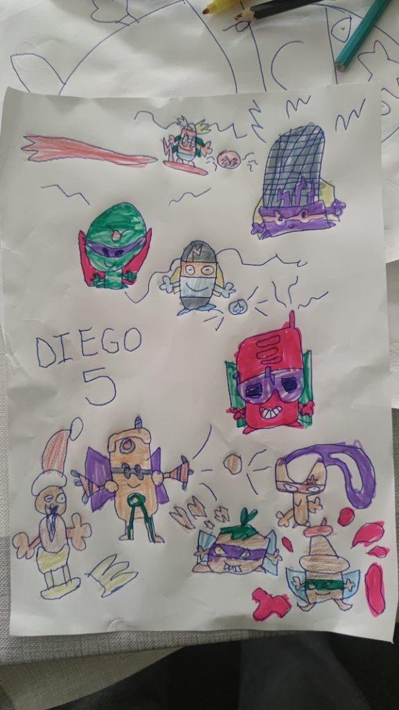 SuperThings de Diego de 5 años