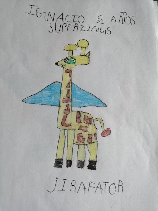 Dibujo de SuperThings Jirafator de Ignacio