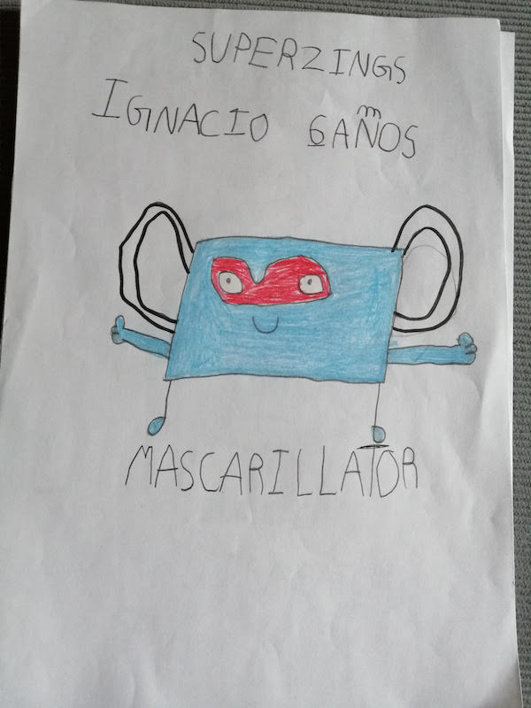 Dibujo de SuperThings Mascarillator de Ignacio