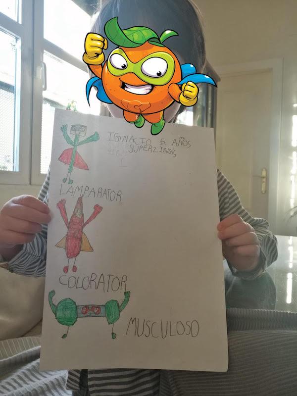 Dibujo de SuperThings de Ignacio muy divertidos