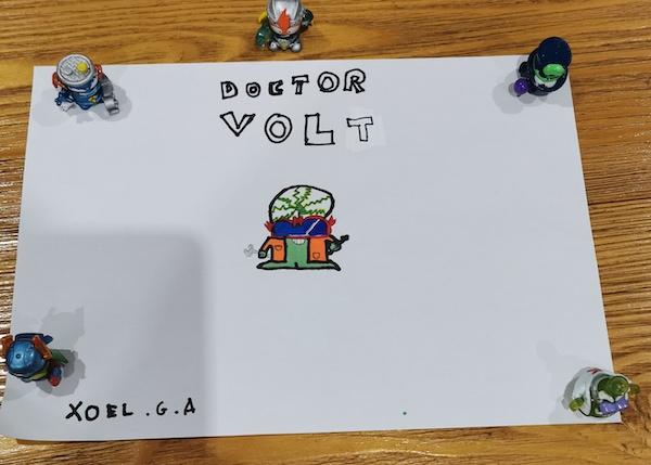 Dibujo SuperThings de Xoel de 8 años