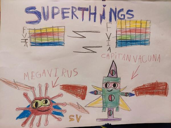 SuperThings dibujados por Luis Rodríguez de 6 años