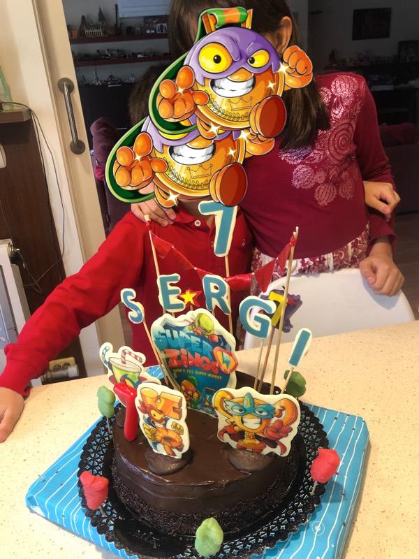 Tarta de cumpleaños de Sergi