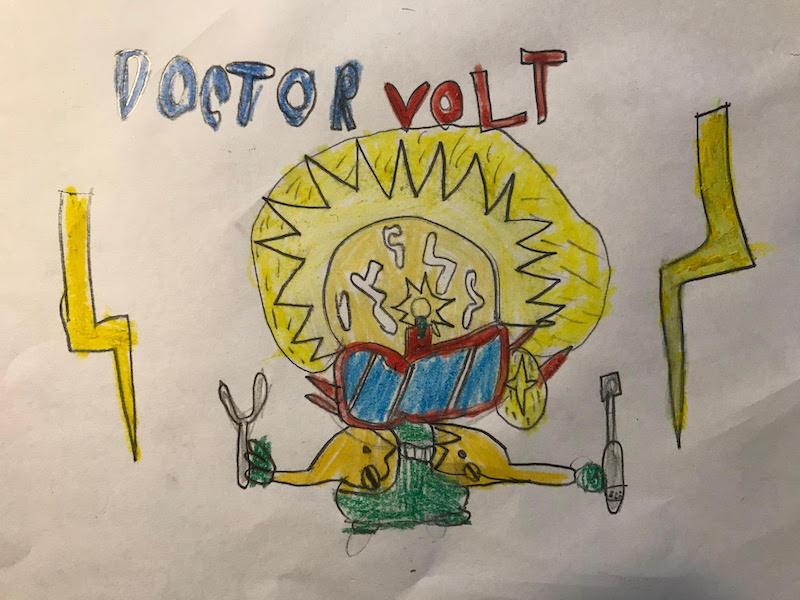 otro dibujo Superthings de Sami Luque Contreras de 6 años
