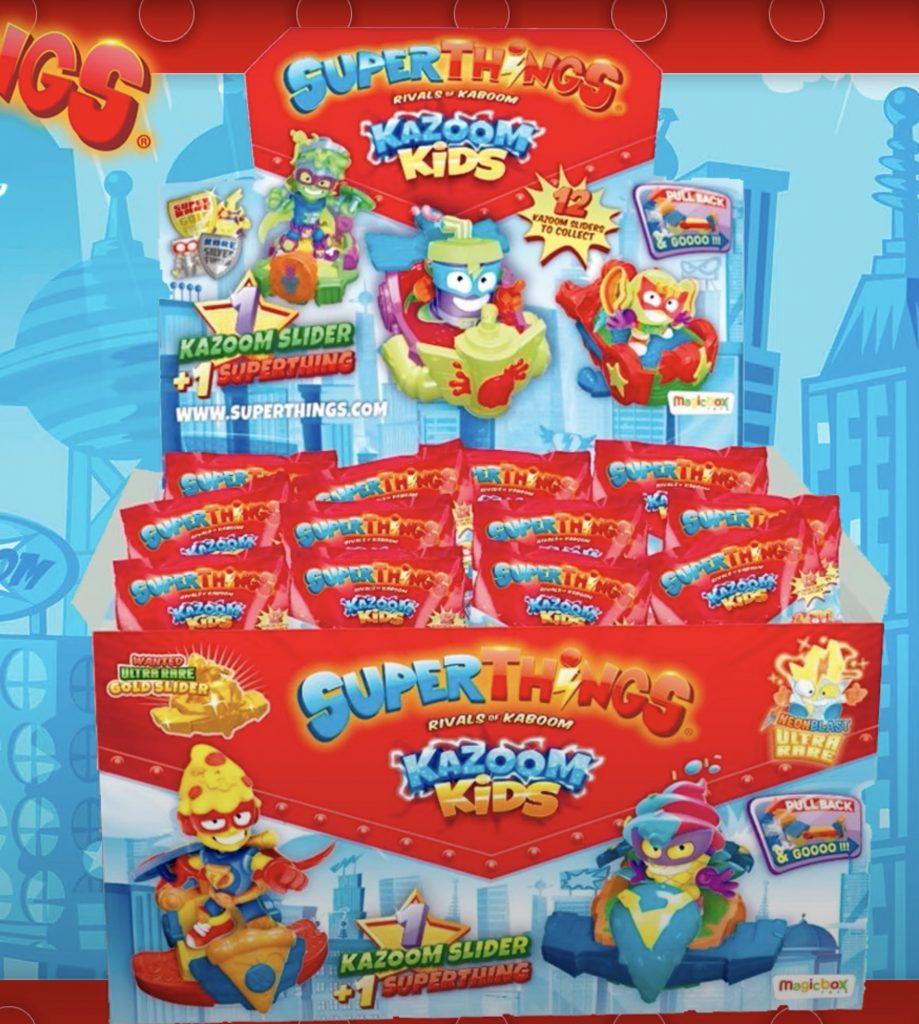 Cajas SuperThings kazoom kids one Sliders