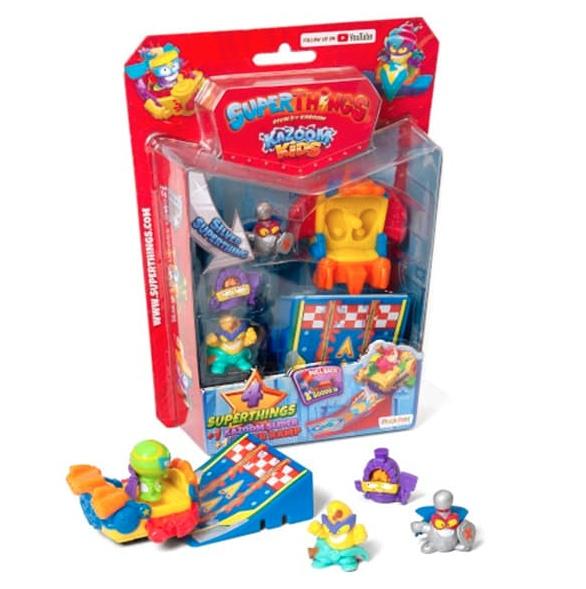 Especial Blíster Kazoom Slider con 4 SuperThings kazoom kids serie 8