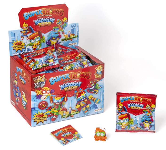 SuperThings serie 8 Kazoom Kids caja de 50 sobres